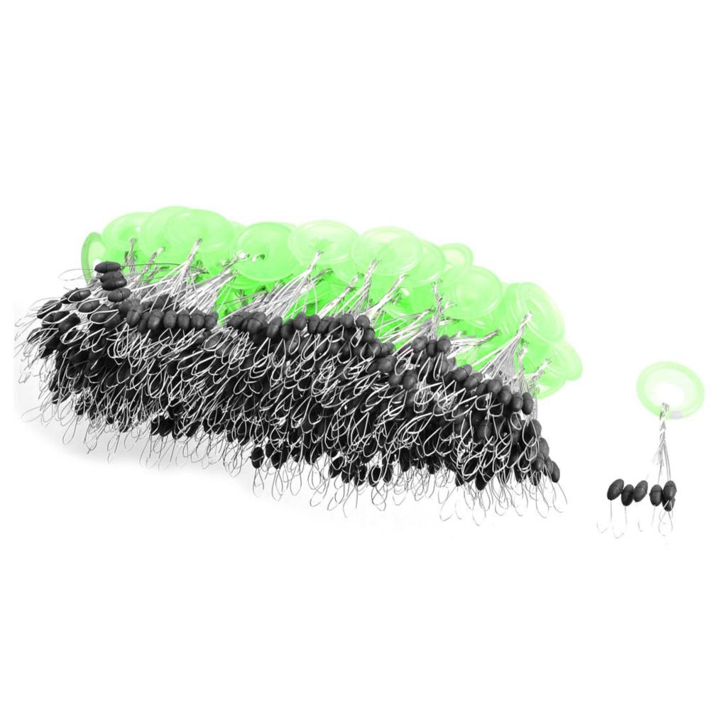 Good deal 100 pcs mini 6 in 1 black plastic oval fishing for Fishing bobbers bulk