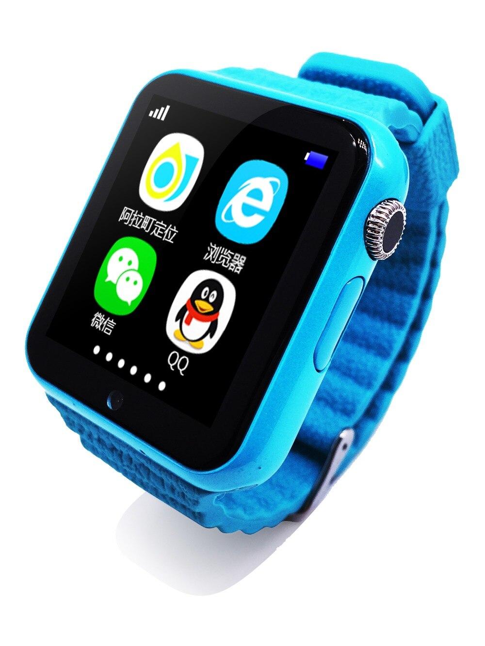 Bambini Sicurezza V7K 1.54 '' Schermo Astuto di GPS della vigilanza Con La Macchina Fotografica facebook Chiamata SOS Posizione Devicer Tracker per IOS e Android