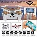 2016 Nueva Llegada Del Envío Libre! FPV Cheerson CX-10WD-TX Android/iOS WiFi Mini Quadcopter Drone RTF Mini Oro