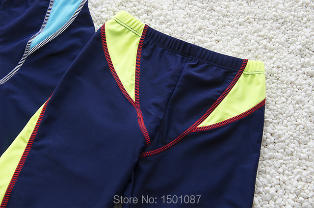 New Hot Kids Swimming Trunks Quality Boys Teenagers Infant Swimwear Board Shorts Simple Blue Children Beachwear 3-12Years