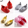 Glitter Newborn Baby Girls First Walkers Shoes Mary Janes Bling Bow Princess Shoes for baby girls Toddler Shoes 4 Color 3size