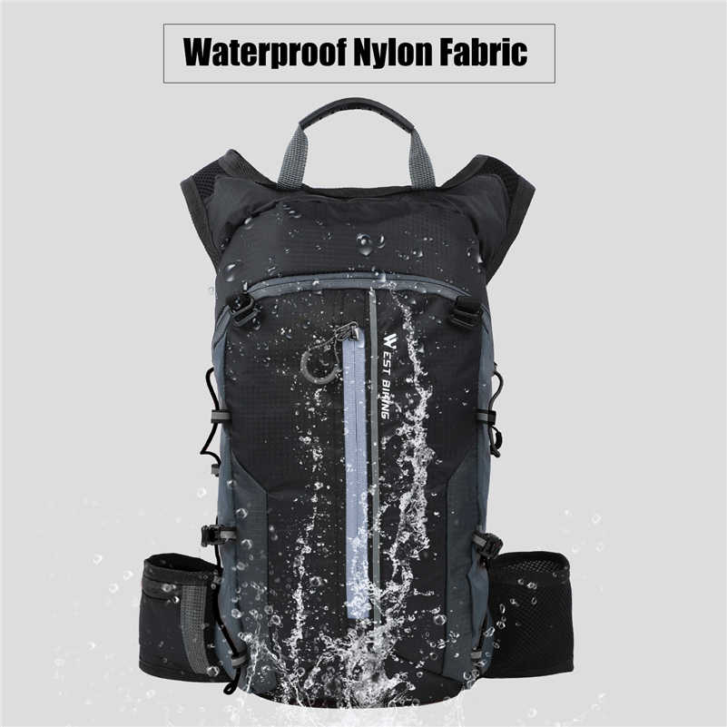 77d1a58f3bf ... WEST BIKING 10L Ultralight Portable Folding Bicycle Backpack Pouch  Breathable Waterproof Hiking Rucksack Water Bag Bike ...