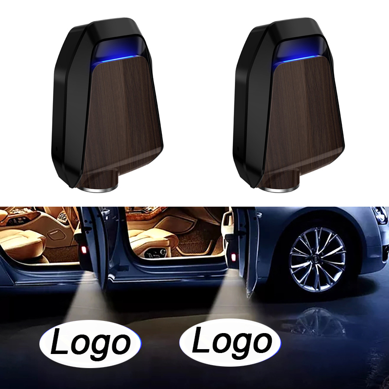 4pcs Wireless LED Car Door Welcome Light Projector Laser Logo Ghost Shadow Decorative Lamp for BMW