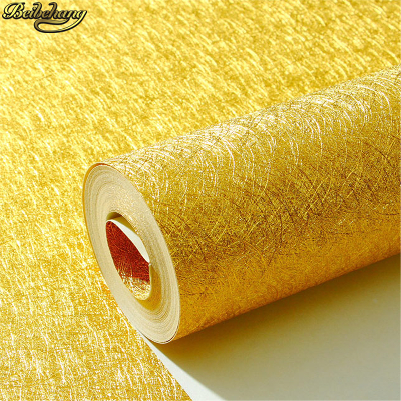beibehang Silver gold foil Wall Paper rolls Home Decor Background Wallpaper roll Wallcovering 3D PVC Wallpaper for Living Room luxury grey silver leaf 3d steroscopic wallpaper for walls roll gold wall paper living room background wallpapers