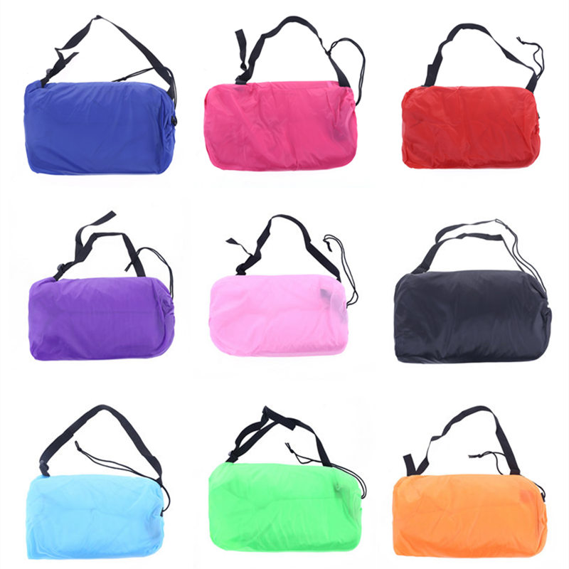 DROP SHIPPING Fast Inflatable Lazy bag Sleeping Camping Portable Beach Bed Air lounger laybag waterproof ...