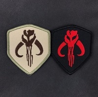 20 cái Star Wars Bounty Thợ Săn Vá Thêu Tactical Patch Móc Và Loops Chiến Đấu Quân Sự Huy Hiệu Quân Đội Băng Tay Morale Armband
