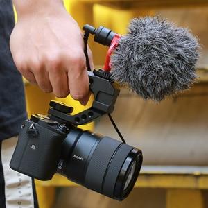 Image 5 - Uurig R005 Universele Dslr Top Handgreep Video Stabiliserende Extender W Koud Schoen Mounts Voor Monitoren Microfoons Led Video Licht