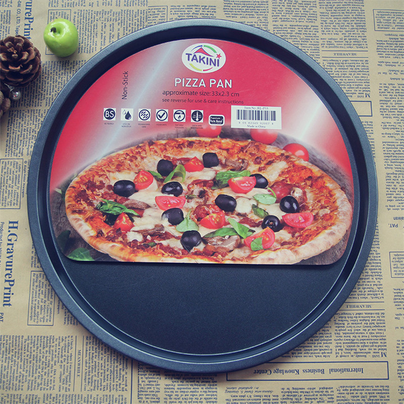 1PC 13 inch Thicking Pizza plate baking tools pizza tray Home baking oven microwave oven use Non-Stick pizza pan Dish J0503