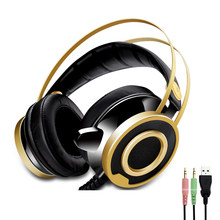New Gaming Headset Wired PC Stereo Earphones Headphones with Microphone for computer Gamer PS4 xbox LED flashing headphone(China)