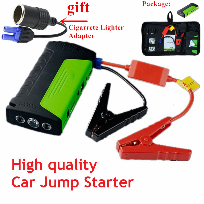 2018 Emergency Car Jump Starter for Petrol Car 12V Portable Power Bank Starter Car start device Auto Battery Booster Charger portable car jump starter 50800mah petrol car 12v emergency auto battery booster pack vehicle jump starter phone power bank
