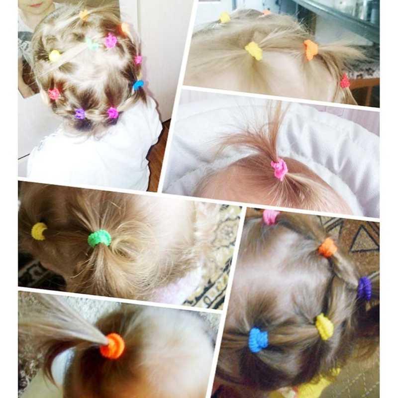 100 قطعة من حاملات الشعر الملونة للأطفال ، ربطة شعر مطاطية لطيفة ، اكسسوارات الاطفال والفتيات ، حامل ذيل حصان الشعر