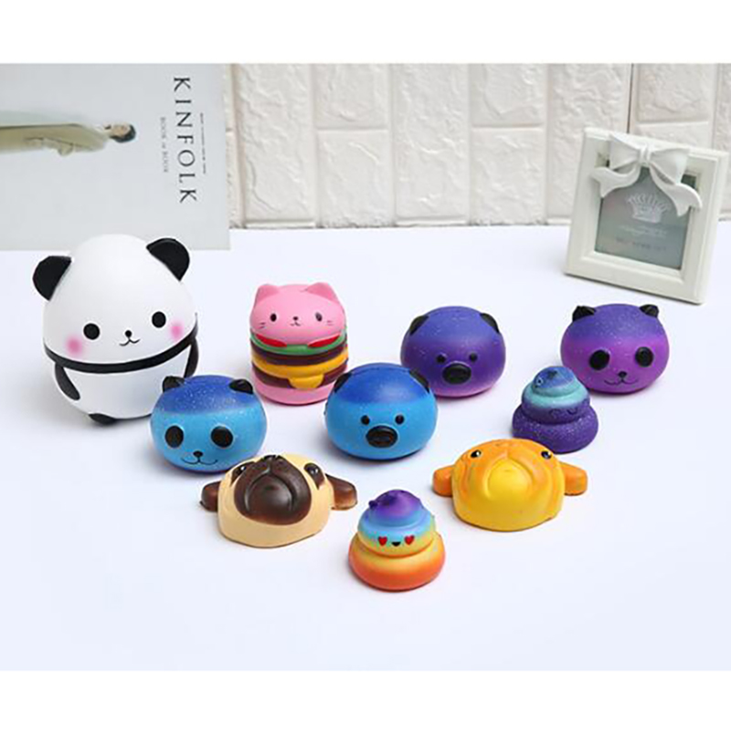 Squishys Galaxy Cute Panda Cream Scented Squishy <font><b>Funny</b></font> <font><b>Gadgets</b></font> Anti Stress Novelty Toys Gift slime toys image
