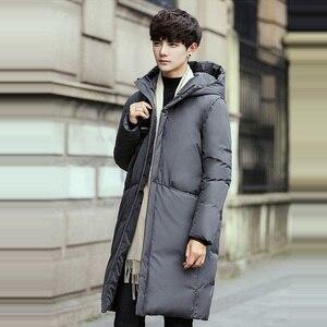 Image 3 - Russia 90% piume danatra bianca giù lungo giacche degli uomini di Inverno lungo parka Impermeabile antivento con cappuccio del cappotto maschile di Alta qualità addensare cappotti