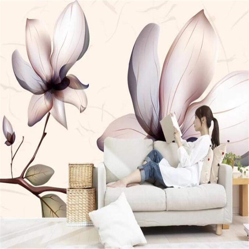 цена на Custom Photo Wallpaper for Walls 3D Stereoscopic Embossed Murals Creative Modern Wall Papers for Living Room Home Decor Flowers