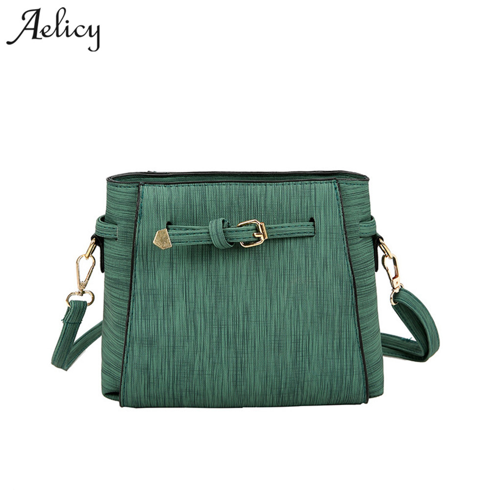 Aelicy Bags Handbags Women Famous Brands High Quality PU Leather Girl Shoulder Bag Belt Messenger Bag Women Vintage Bolsa women handbag famous brands print women shoulder bags 2018 women messenger bag vintage handbags ladies high quality l4 3042