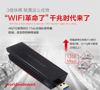 A6210 AC1200M WiFi USB 3,0 двухдиапазонный usb-адаптер 802 11ac гигабит для  Netgear