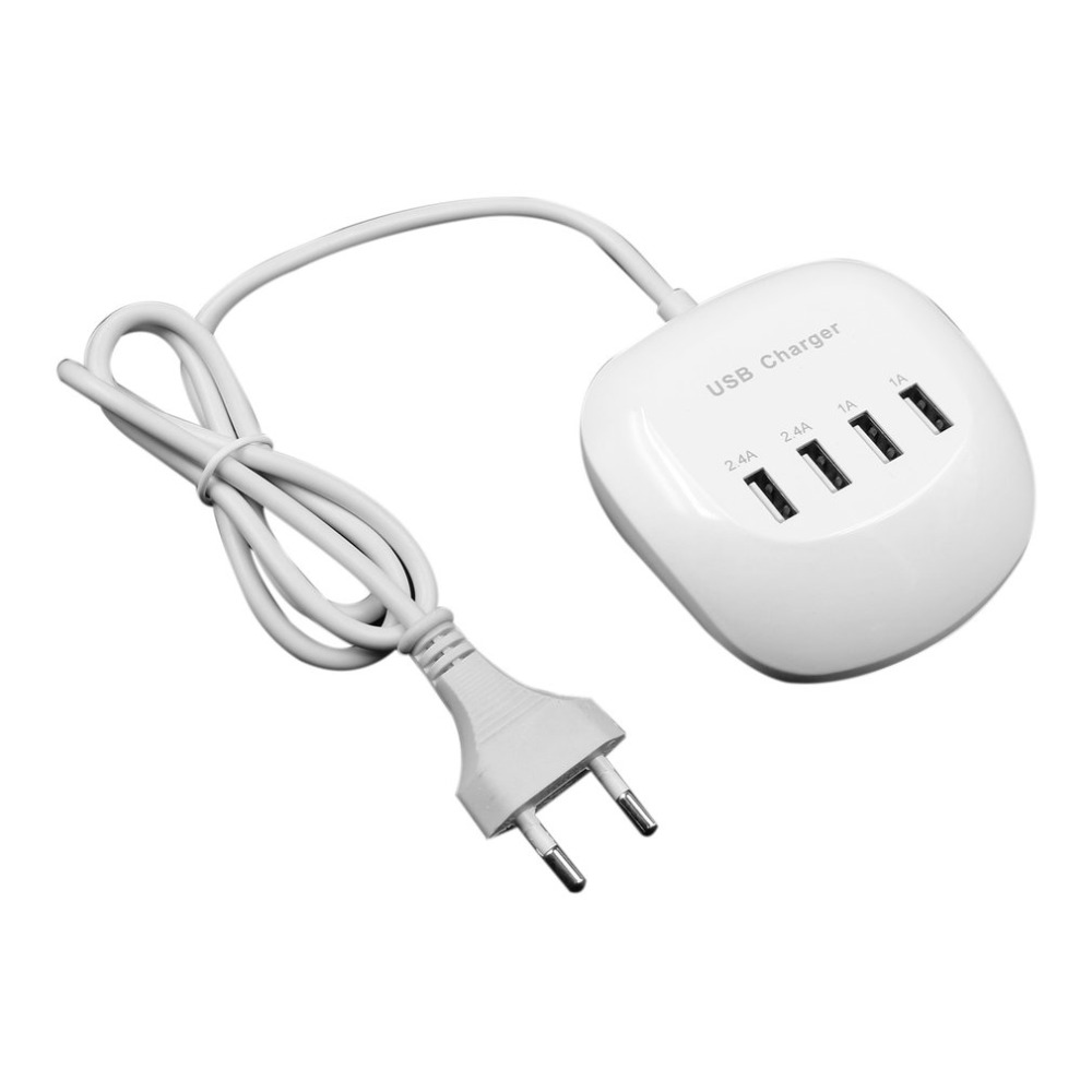 Portable Fast Charging Station 4 Port USB Charging Device 3.4A 77W HUB Phone Desktop Charger Durable Wall Charger