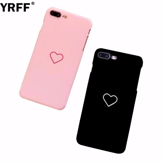 YRFF Love Heart Painted Phone Case For iphone 7 plus matte