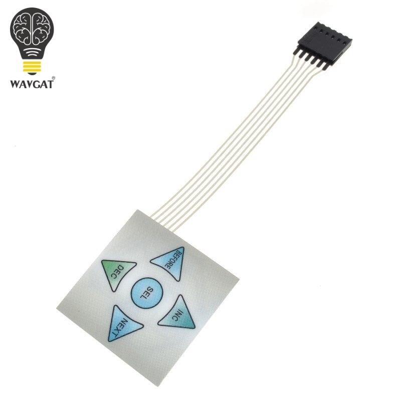 WAVGAT 1x5 Matrix Array 5Key Membrane Switch Keypad Keyboard 1 5 Keys Control Panel