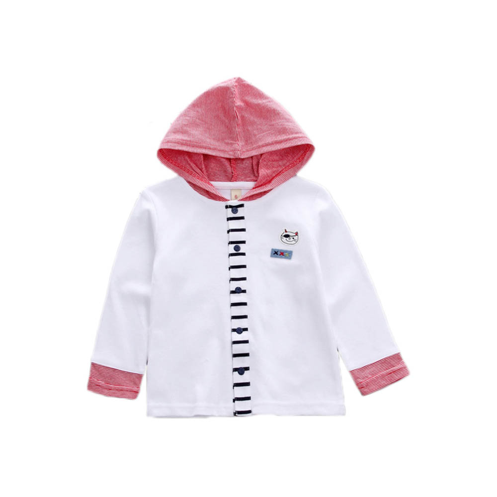 Sweater Shirt Hooded Girl Baby-Boy Kids Children's New for 1-4-Years-Old Cardigan Long-Sleeved