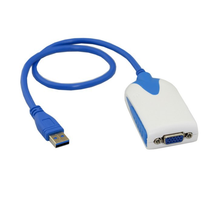 USB 3.0 to VGA RGB Video External Graphics Card HDTV Adapter Cable for Macbook Laptop Monitor Windows ,Free shipping By UPS