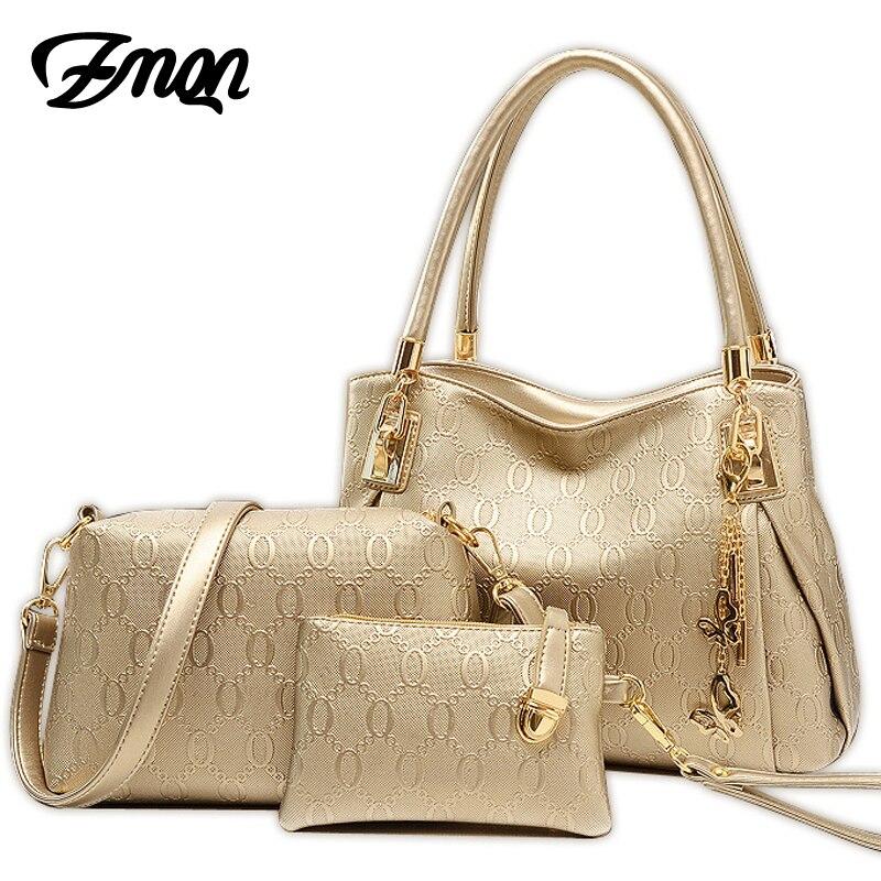 ZMQN 3 Sets Women Bag Leather...