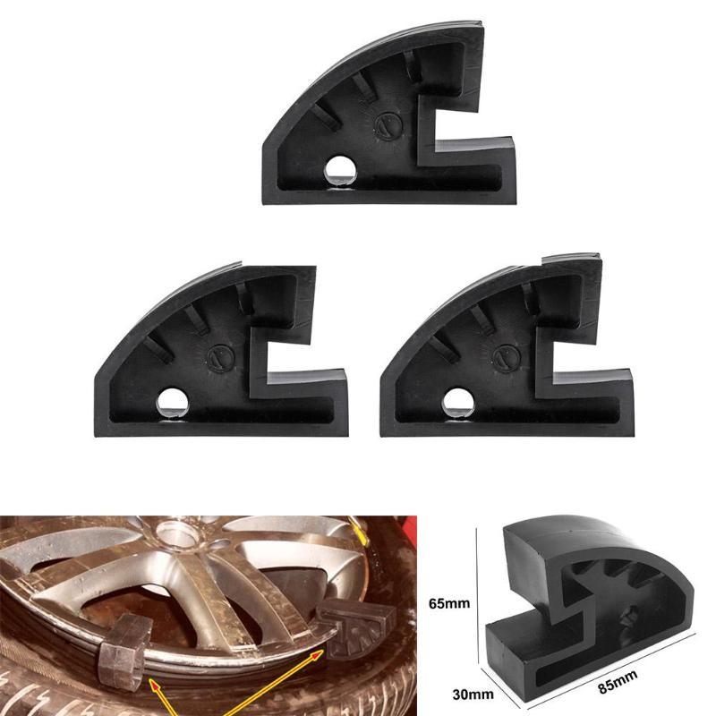 3 stücke Nylon Perle Drop Zentrum Spatel Clamp Felge Laufen Flach Reifenmontiermaschine Schwarz Weiß Auto Reifen Befestigungsklammer Reifenreparatur Werkzeuge