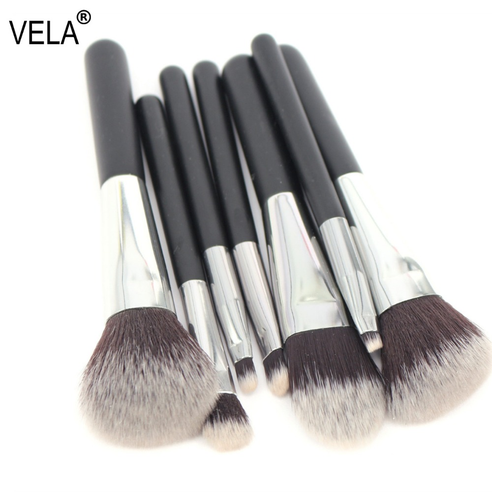 где купить VELA Makeup Brush Set Travel MINI 7pcs Makeup Tools Kit Good Quality Slim Beauty Set по лучшей цене