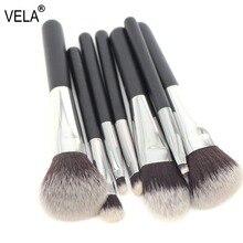 VELA  Makeup Brush Set Travel MINI 7pcs Makeup Tools Kit Good Quality Slim Beauty Set