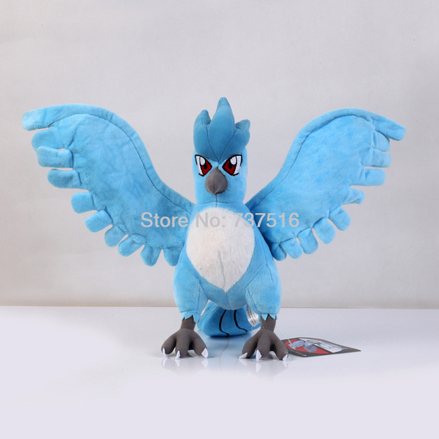 New Flying Snow Hidden Standing 9 inches Articuno Plush Anime Stuffed Dolls Soft Toys Xmas Gift