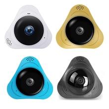 Новый 360 градусов Широкий формат 3D VR Wi-Fi Камера IP Камера 1.3MP Fisheye Беспроводной WiFi Smart Камера слот Поддержка карты памяти ИК-10 м