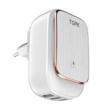 TOPK 3-Port LED USB Lamp Charger for Mobile Phone