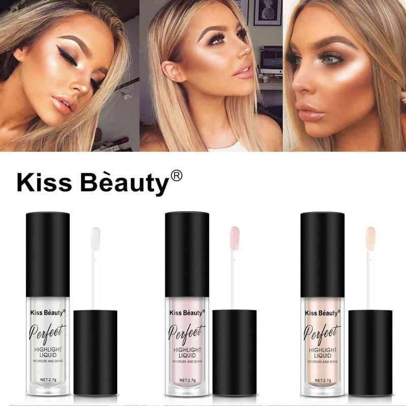 Baiser beauté illuminateur contour maquillage liquide surligneur visage éclaircissant correcteur apprêt bronzant visage lueur Kit cosmétiques