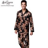 Luxurious Mens Pajama Set 2017 New Couple Pajamas Suits Brand Design Men S Long Sleeved Pajama