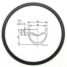 Графен 29er карбоновые mtb диски бескамерные диски 30x24 мм внутренняя ширина 25 мм карбоновый обод МТБ велосипедные диски XC 330 г