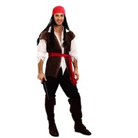Men Pirates Costume Jack Sparrow Masquerade Cosplay Costume Carnival Fancy Dress Party Supplies
