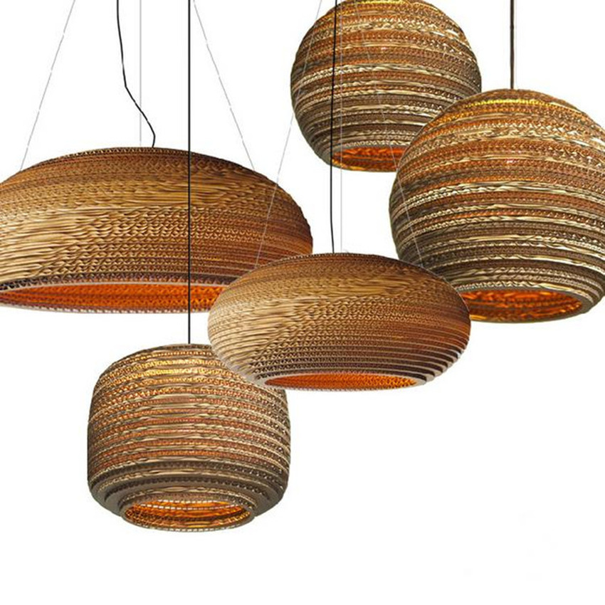 Chinese Lamp Individual Pendant Lights Creative Restaurant  Living Room Hanging Lamp Japanese Southeast Asian Paper Hang Lamp