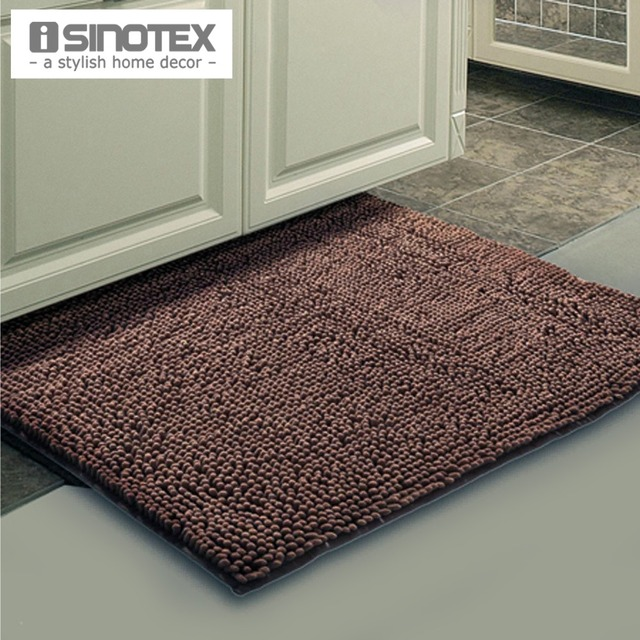 Brown Mat Thick Shaggy Soft Rug Large Size Bath Mat Floor Carpet Footcloth  Anti Slip