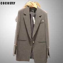 Women Blazers 2019 Autumn Winter Female Long Sleeve Suit Office Lady Outerwear S