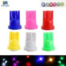 50pcs/lot T10 5050 1 SMD Led Bulbs 20Lm Car Signal Lamp Side Maker Parking Light Tail 12V Multi Colors 8000-10000K