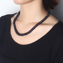 Amazing Fashion Jewelry Real Black Pearl Necklace For Women