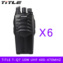 (6 PCS) two way radio BUXUN T-Q7 Drop the waterproof Hotel road Three 10w power proofing walkie talkie