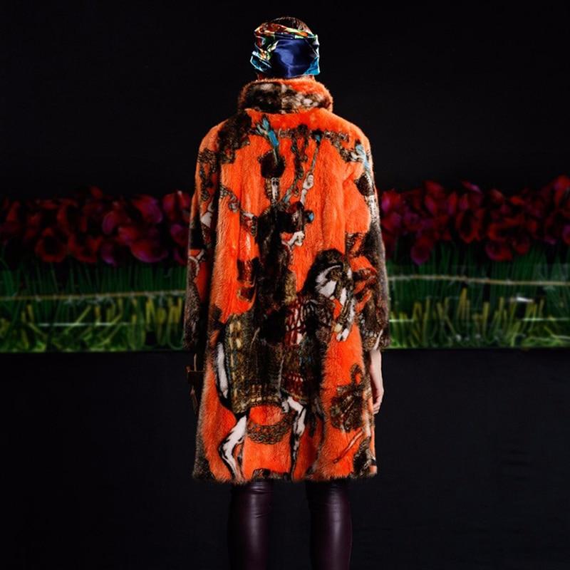 LVCHI kadının Ceket Boho Moda Kadın Soğuk Vizon Ceket Hakiki Asil - Bayan Giyimi - Fotoğraf 6
