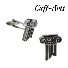 Cufflinks for Men Roman Column Antique Silver Shirt Tie Clip Gifts for Men Mancuernas With Gift Box by Cuffarts C10226 цена в Москве и Питере