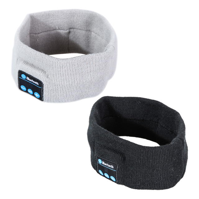 7b56e6b9bfc1 Wireless Bluetooth Headband Stylish Knitted Sports Stereo Headphone  Earphone Sleep Headset Sports Headband with Mic Winnter