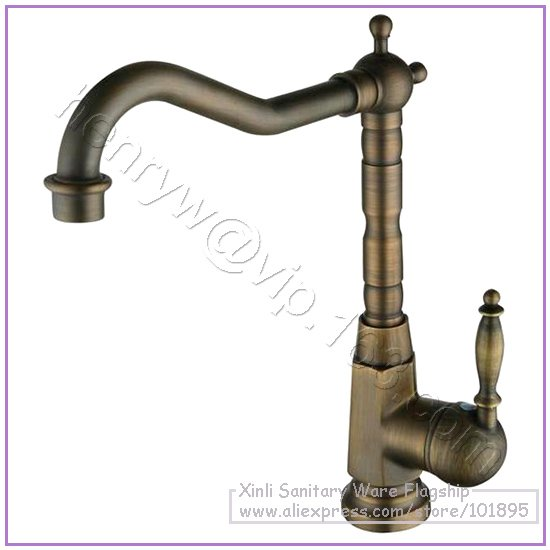 L16292 - Luxury Hot & Cold Water Mixer Brass Oil Rubbed Basin Faucet Bronze Deck Mounted Basin Tap
