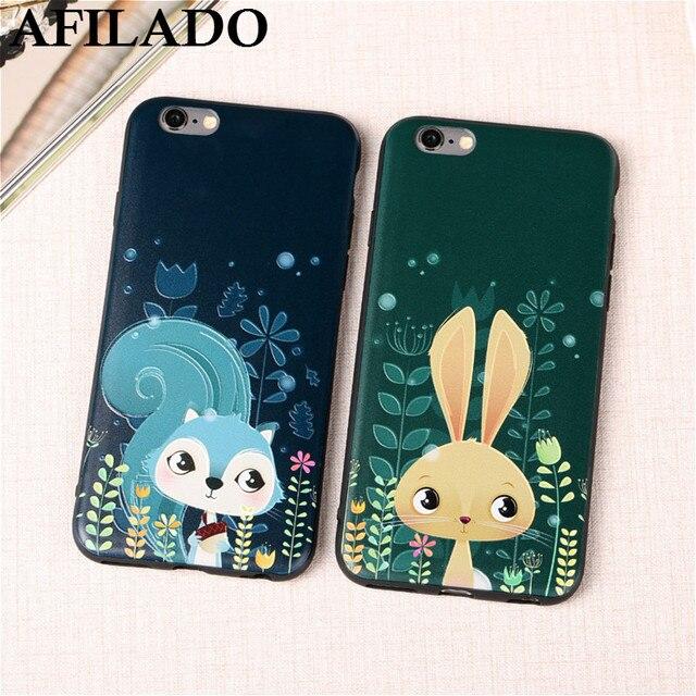 coque iphone 7 silicone fox