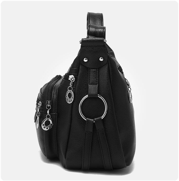 Image 2 - SMOOZA Brand Designer Women Messenger Bags Crossbody Soft Leather Shoulder Bag High Quality casual Women Bag Luxury Handbag-in Shoulder Bags from Luggage & Bags