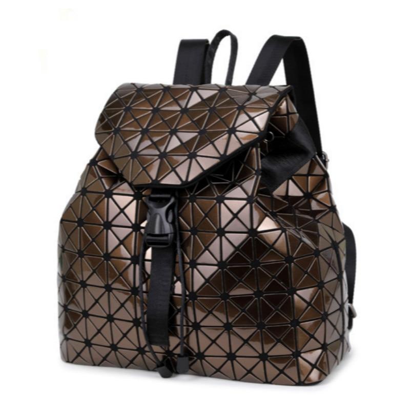 Laser Geometric Bao Bao Women Backpack Bags Women Fashion School Bag  Folding Sequins Girl Shoulder Bag Daily Backpacks BB94-in Backpacks from  Luggage   Bags ... dc02de50f51e0