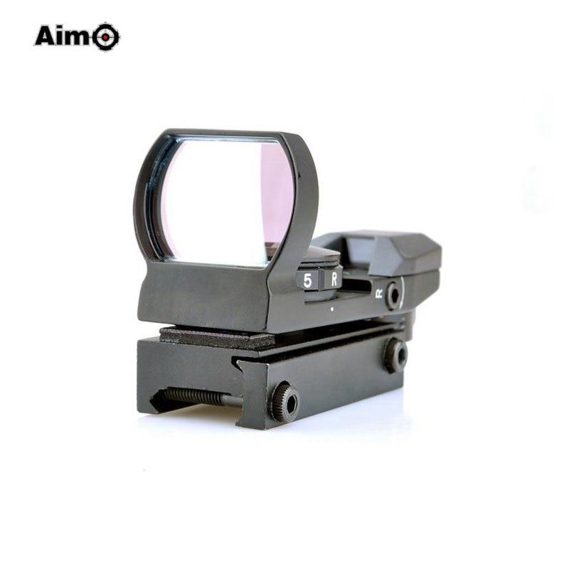 ФОТО Aim-O Red Green Dot Hunting Tactical Reflex Riflescope 4 Reticle Sight Optical for Picatinny Rail Mount AO3015